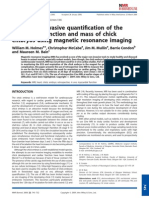 In Ovo Non Invasive Quantification of the Myuocardial Function and Mass of Chick Embryos Using Magnetic Resonance Imaging