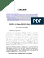 INFORME DE DISEÑO DE CANALES - FLUIDOS II