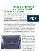 Effectiveness of Smoke Barriers - Pressurised Stair Enclosur