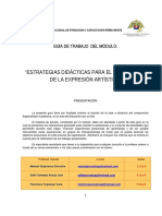 Estrategias didácticas para el desarrollo de la expresión artística