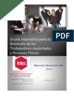 Escala Impositiva para la Retención de los Trabajadores Asalariados y Personas Físicas.
