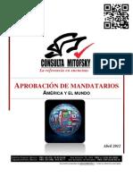 Evaluacion de Mandatarios de America y El Mundo (Abril 2012)