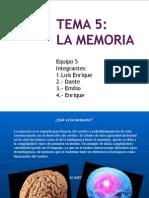 Presentacion de La Memoria