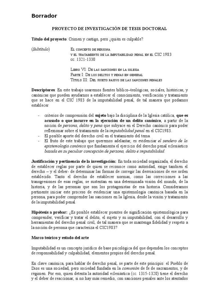 PROYECTO DE INVESTIGACIÓN DE TESIS DOCTORAL