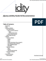 jQuery.validity Guide & Documentation