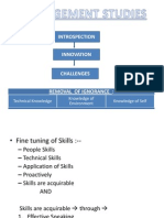Management Studies