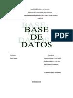 Trabajo de Base de Datos