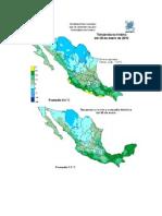 Mapa de Estados Con Temperaturas Minimas