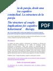 La Terapia Cognitivo Conductual de Pareja[1]