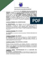 CONTRATO CIVIL DE LOCACIÓN DE SERVICIO