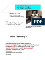 Chapter 7.2 Tape Casting