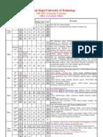 NTUT Fall 2011 Academic Calendar