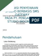 Aplikasi Penyewaan Studio Berbasis Sms Gateway