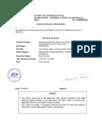 NSD580 of 2012 - Originating Application