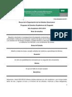 Convocatoria becas OEA 2013-2014