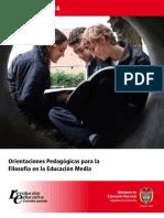 Orientaciones Pedagogic As Para La Filosofia