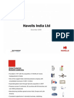 Havells India Ltd Investor Presentation Dec 09