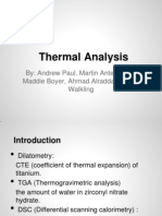 Thermal Analysis 462 Pres