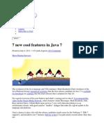 Java 7 Featuers