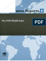 DHS Wealth Index (DHS Comparative Reports)