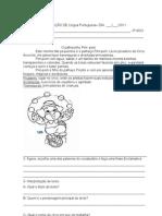 prova_de_lingua_portuguesa  o palhacinho pim- pom 3º ano[1]