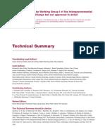 IPCC 4th report technical summary
