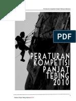 Pedoman Kompetisi Panjat Tebing 2010