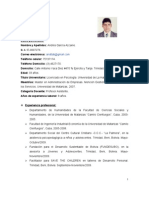 CURRICULUM VITAE ANDRÉS CERTIFICADO