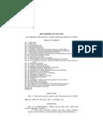 Securities Act 1933