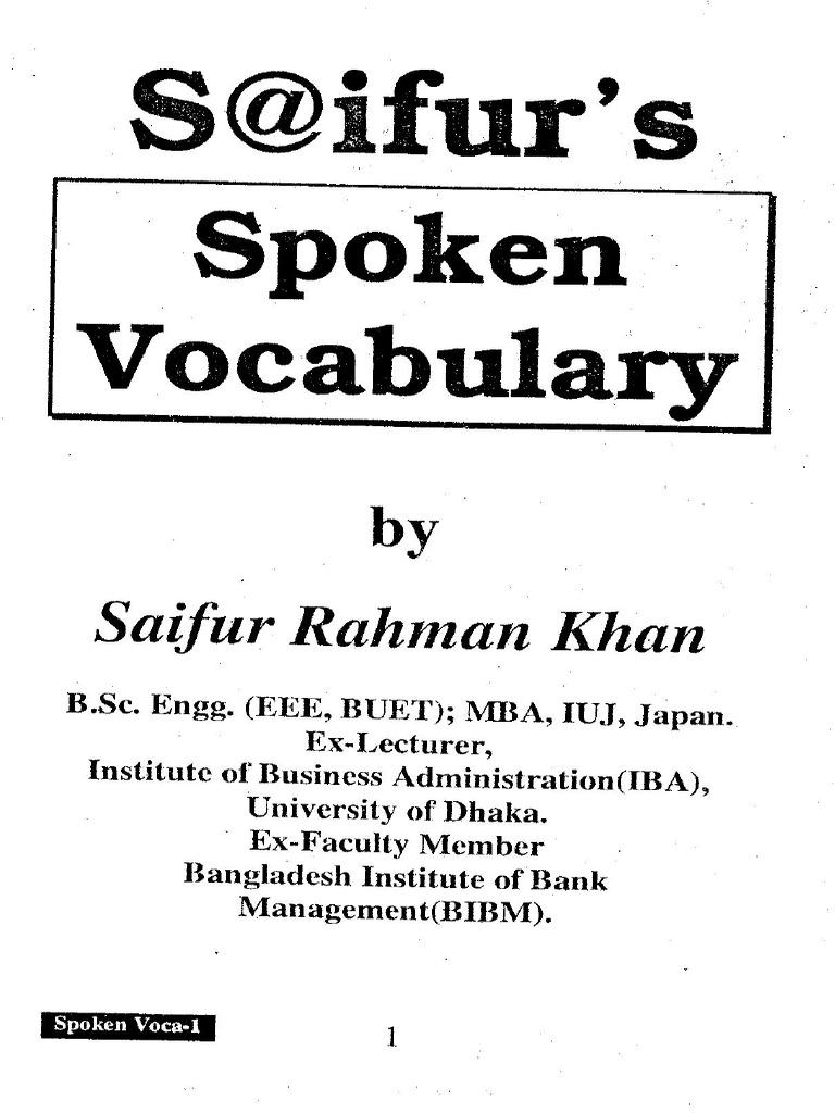Saifurs Spoken Book