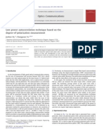 Low Power Auto Correlation Technique Based on the Degree-Of-polarization Measurement