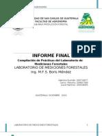 """Proyecto Final. """"Compilación de Prácticas del Laboratorio de Mediciones Forestales"""""""