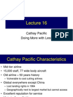 Lecture 16 - Case - Cathay Pacific