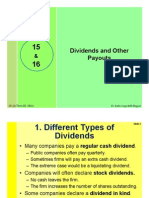 #15 & #16 Dividend Policy