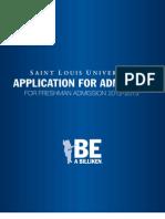 SLU Freshman App 12-13