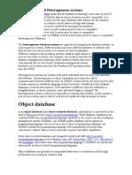 Homogeneous Databases