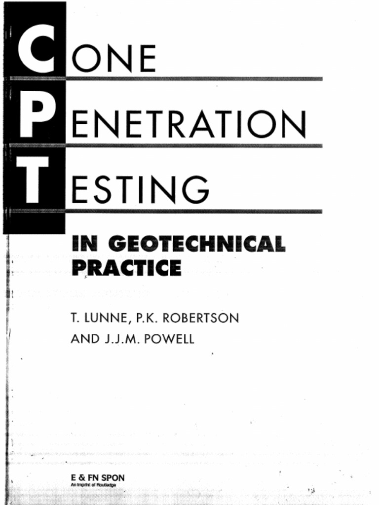 cone penetration testing in geotechnical practice free download