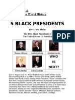 Black People & Their Place in History (Bonus Material,Black US Presidents,Black Inventors List & Black Wall Street )