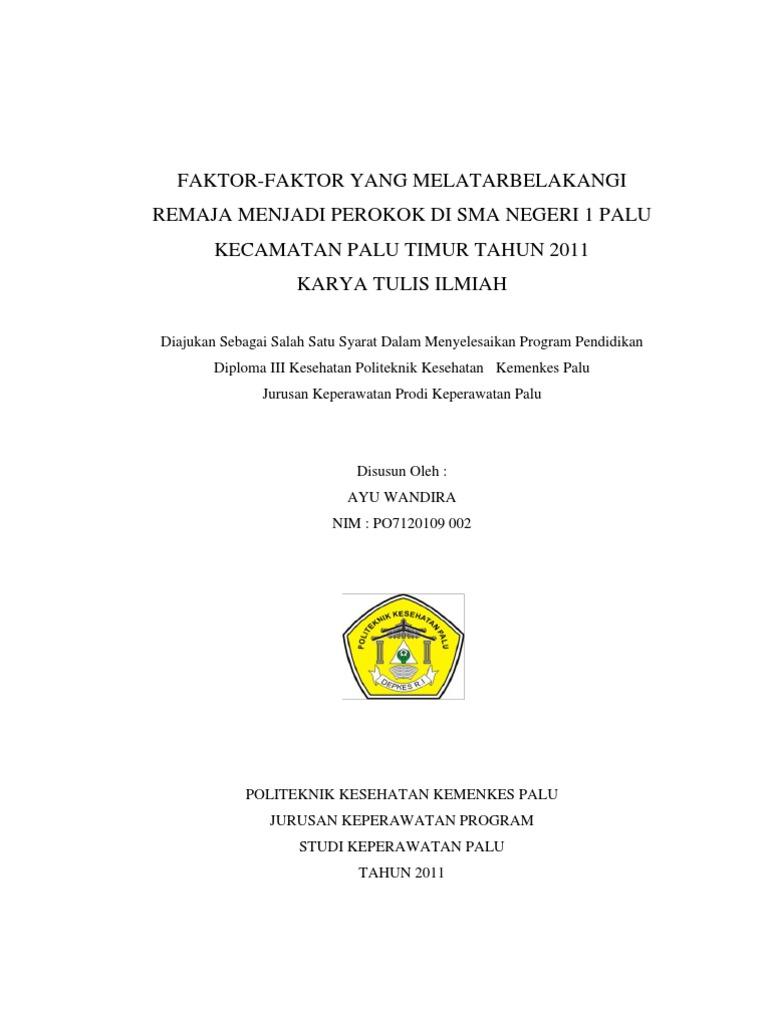 032 Akbid Contoh Proposal Penelitian Latar Blkgn Remaja Merokok