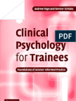 Clinical Psychology for Trainees