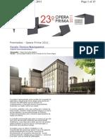 Concurso Opera Prima 2011
