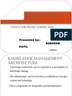 Knowledge Management Architecture Ppt @ Bec Bagalkot Mba