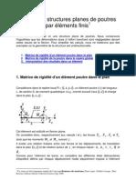 Initiation aux calculs de structures poutre par éléments finis