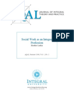 Social Work as an Integral Professio