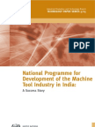 National Programme for Development of Machine Tool Industry in India
