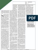 """Restaurare il futuro? (""""La Repubblica"""", 23-04-2012, p. 1)"""