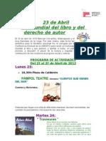 Programa Dia Del Libro 2012