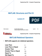 Lecture 21 - MATLAB Structures&File IO - 06