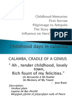 Chapter 1 Lesson 2 Childhood Days in Calamba