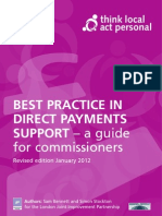 Best Practice in Direct Payments Support, TLAP, 2012